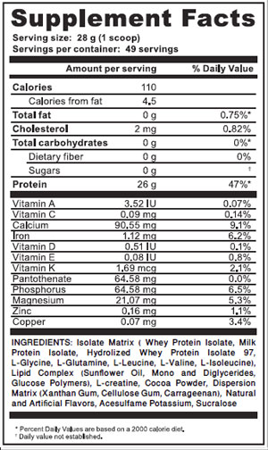 isolate-matrix-choco-supplement-facts